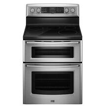 Maytag MET8775XS 30  Freestanding Electric Double Oven Range NIB T