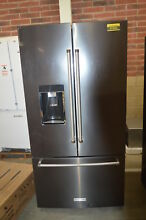 KitchenAid KRFC704FBS 36  Black Stainless French Door Refrigerator CD  37564 HRT