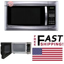 Stainless Steel Countertop Microwave Oven 1 6 cu ft Small Size Kitchen Appliance