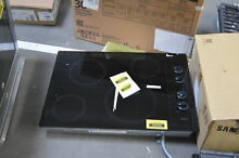 Whirlpool W5CE3024XB 30  Black 4 Burner Electric Cooktop NOB  35324 HRT