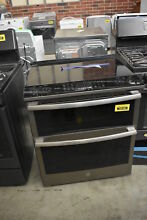 GE PS960ELES 30  Slate Slide In Double Oven Electric Range NOB  38158 MAD
