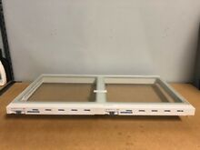 Whirlpool Fridge Crisper Cover Frame Part   W10200927 With glass  12204826 Inclu