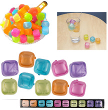 Plastic 100pc Reusable Ice Cubes Cold Drink Bar Party BBQ Fast Freezing Blocks