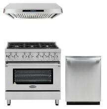 Cosmo Kitchen Appliance Package 36  Dual Fuel Range with Range Hood