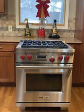 WOLF RANGE 30  DUAL FUEL  4 Burners  Large Oven  warranty