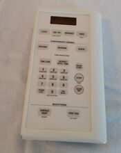 GE Spacemaker microwave touch pad control panel WB07X10872 Bisque