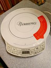 NUWAVE PIC PRO 1800 WATTS HIGHEST POWERED 12 2 inch INDUCTION COOKTOP WHITE NWOB