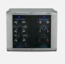 Cusinart 12 bottle Wine Cooler  Dual Temperature Touch Pad  Brand New In The Box