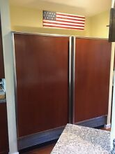 Sub Zero 72  Side by Side Refrigerator Freezer 601R 601F Columns Panels Built in