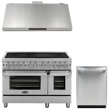 Cosmo Kitchen Appliance Package 48  Dual Fuel Range  Range Hood and Dishwasher