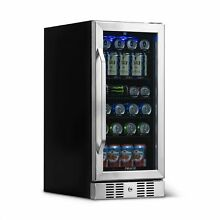 NewAir Beverage Fridge Built In 90 Can Beer Cooler   ABR 960   Stainless Steel