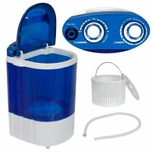 Freestanding Portable MINI Washing Machine 9lbs Washer w  Gravity Drain Pump