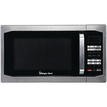 Magic Chef 1 6 Cubic Ft Countertop Microwave Stainless Steel MCM1611ST