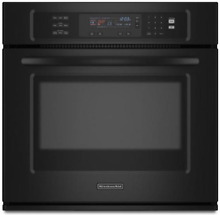 KitchenAid KEBS107SBL 30  Black Single Electric Convec Wall Oven NOB  13368 MAD