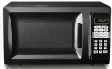 Hamilton Beach 0 7 Cu Ft Countertop Stainless Steel Microwave Oven  Black White