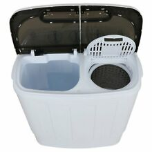 Portable Compact Mini Twin Tub Washing Machine 13lbs Capacity with Spin Dryer