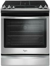 Brand New Whirlpool 5 Burner 5 8 cu ft Slide In Convection Gas Range  Self clean