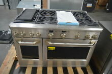 GE Monogram ZDP486NDPSS 48  Stainless Pro Style Dual Fuel Gas Range  28149 HRT