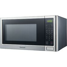 1 2 Cubic Ft Microwave Oven Stainless Steel Sensor Cooking One Touch Countertop