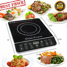 Electric Induction Cooker Cooktop Burner 1800W Portable Temperature Control