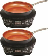 NuWave PIC Compact Precision Induction Cooktop with 9 inch Fry Pan 2 Pack Bundle