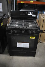 Whirlpool WFG505M0BB 30  Black Freestanding Gas Range NOB  28788 MAD