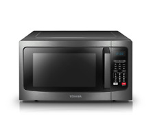 Toshiba EC042A5C BS 1 5 cu ft  Convection Microwave Oven   Black Stainless Steel