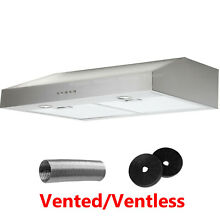 Convertible Carbon Kit Stainless Steel 30  Under Cabinet Range Hood Cook Fan