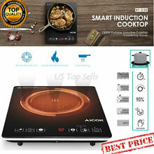 Electric Induction Cooker Cooktop Burner Portable 1800W Countertop Counter down