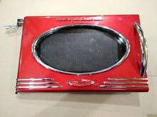 9FF04 RMO400RED MICROWAVE OVEN DOOR  15 1 2  X 10 1 2    VERY GOOD CONDITION