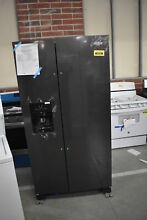 Whirlpool WRS325SDHV 36  Black Stainless Side By Side Refrigerator  40598 HRT