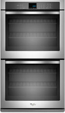 30  Double Electric Wall Oven WOD51EC0AS Whirlpool Stainless Steel Range