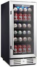 Kalamera KRC 90BV 15  Beverage Cooler Refrigerator 96 can built in Single Zone