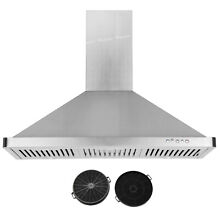 W Carbon Filter 36  Wall Mount Range Hood Stainless Steel Electronic Switch LED