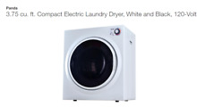 Panda Small Mini Compact Dryer 110V Stainless Steel Drum 1 50 cu ft Stackable