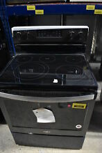 Whirlpool WFE550S0HV 30  Black Stainless Electric Range NOB  30046 CLW