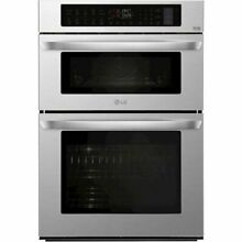 LG 30  Double Electric Convection Wall Oven Built In Microwave Stainless steel