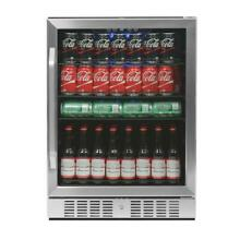 NewAir Beverage Fridge Built In 177 Can   ABR 1770   Stainless Steel REFURBISHED