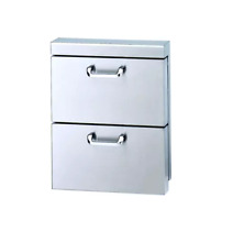 Lynx LUDXL1 18  Stainless Double Utility Drawers NIB  12393 HRT