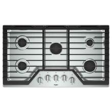 WHIRLPOOL WCG55US6HS 36  GAS COOKTOP WITH E Z LIFT HINGED GRATES