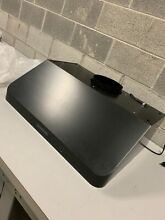 AKDY 30 in  Under Cabinet Range Hood Stainless Steel with Black Finish Used Read