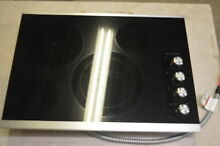 KitchenAid KECC604BSS 30  Black Electric 4 Radiant Element Cooktop NOB  6060 MAD