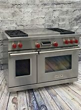 WOLF RANGE DF48 Frenchtop 4 Burners Large self cleaning dual fuel Oven  Warranty