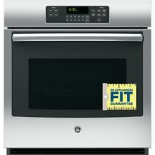 27 in  Single Electric Wall Oven Self Cleaning with Steam in Stainless Steel