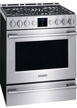 NEW Frigidaire PROFESSIONAL Stainless 30  Gas Range Front Controls FPGH3077RF