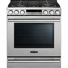 LG Signature Kitchen UPSG3014ST 30  Stainless Gas Slide Range Convection Oven