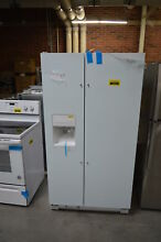 Whirlpool WRS325FDAW 36  White Side By Side Refrigerator NOB  30920 HRT