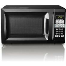 0 7 Cu Ft  Black Microwave Oven 10 Power Levels Child Safe Lock Quick Set Menu