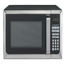 Hamilton Beach 0 9 Cu  Ft  Stainless Steel Microwave Oven
