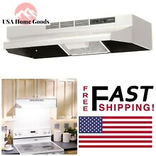 BROAN Stainless Steel 30  Ductless Under Cabinet Range Hood Non Vented W  Light